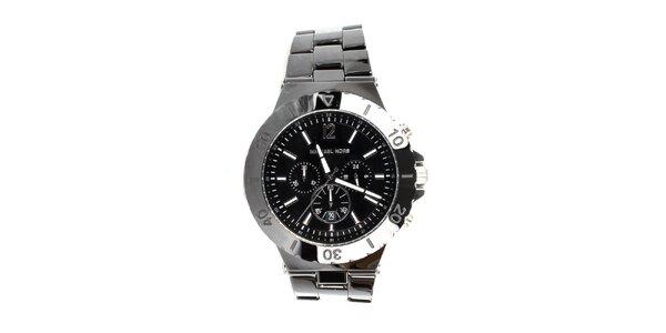 Pánske čierne hodinky Michael Kors