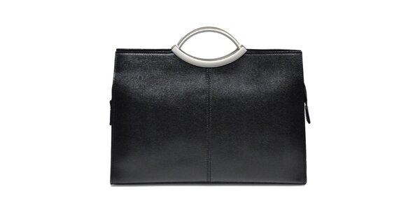 Dámska kožená kabelka v čiernej farbe Giulia