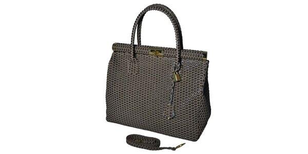 Dámska šedá veľká kufríková kabelka Giulia