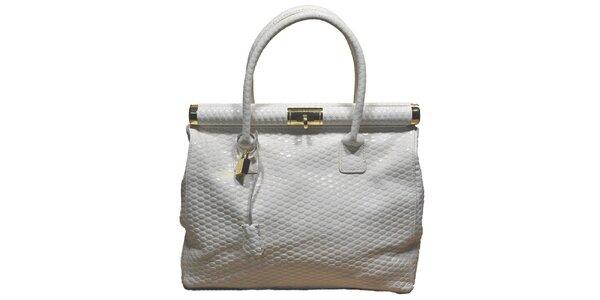 Dámska biela veľká kufríková kabelka Giulia