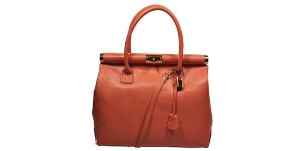 Dámska oranžová veľká kufríková kabelka Giulia