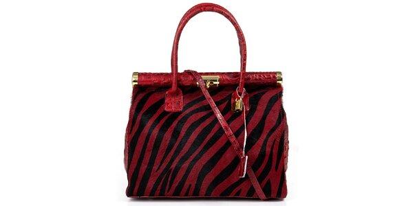Dámska červená kabelka so vzorom Giulia