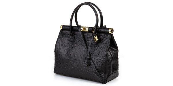 Dámska čierna veľká kufríková kabelka Giulia