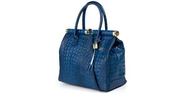 Dámska modrá veľká kufríková kabelka Giulia