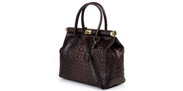 Dámska hnedá veľká kufríková kabelka Giulia