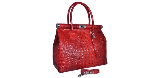 Dámska červená veľká kufríková kabelka Giulia