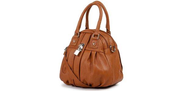 Dámska hnedá kabelka so zámčekom Giulia