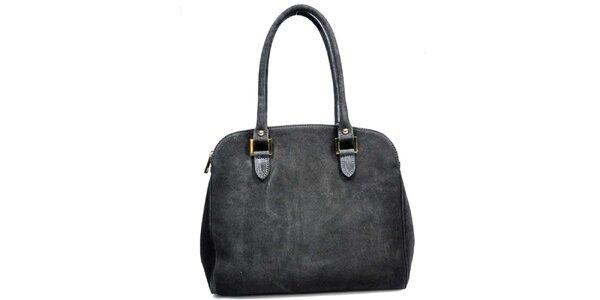 Dámska čierna semišová kabelka Giulia