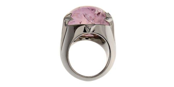 Dámsky ocelový prsteň Thierry Mugler s ametystom
