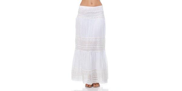 Dámska dlhá biela sukňa Kool