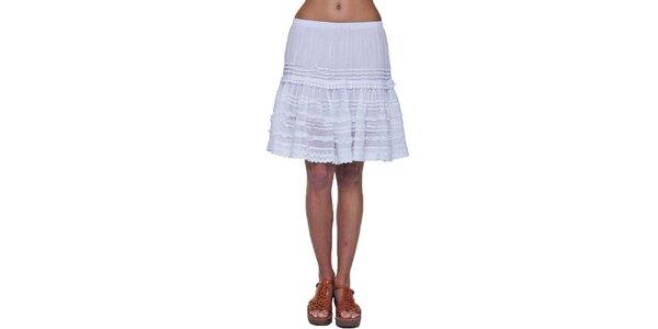 Dámska biela volánková sukňa Kool