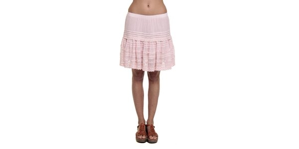 Dámska ružová volánková sukňa Kool