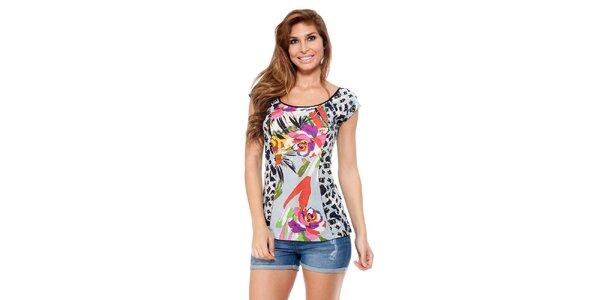 Dámske tričko s farebnou potlačou Kool