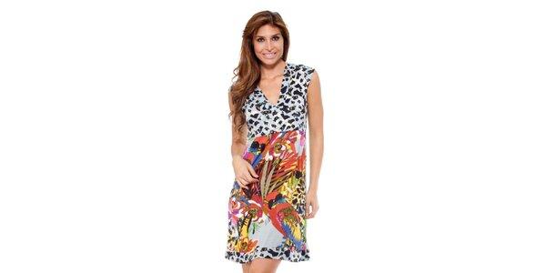 Dámske šaty s farebnou sukňou Kool