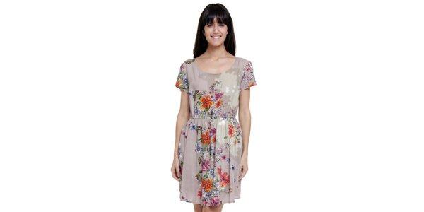 Dámske krátke šaty s kvetinovou potlačou Janis