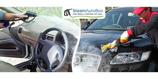 Šetrné a účinné čistenie auta parou