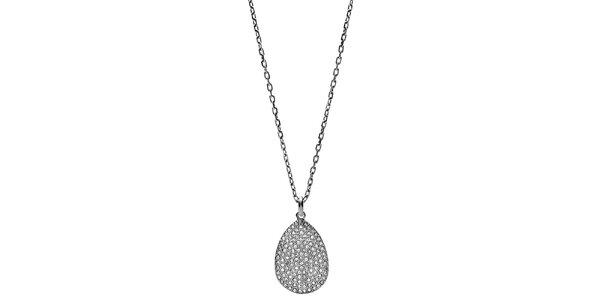 Dámsky náhrdelník s oválnym príveskom Fossil