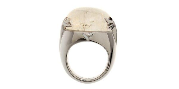 Dámsky ocelový prsteň Thierry Mugler s bielym kryštálom