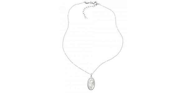 Dámsky náhrdelník s perleťovým príveskom Fossil