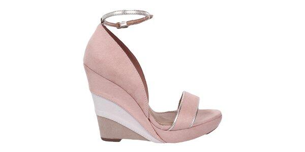 Dámske púdrové sandálky na kline Vizzano