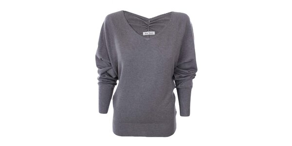 Dámsky šedý sveter Nice Tricot