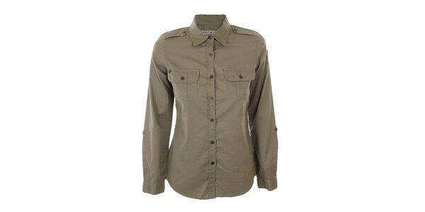 Dámska vojenská khaki košeľa Nothing Else
