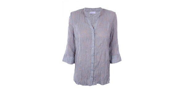 Dámska šedá košeľa s potlačou Gémo