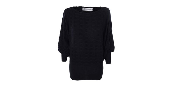 Dámsky čierny dlhý sveter Bosebelking fashion