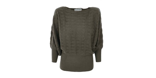 Dámsky khaki sveter Bosebelking fashion