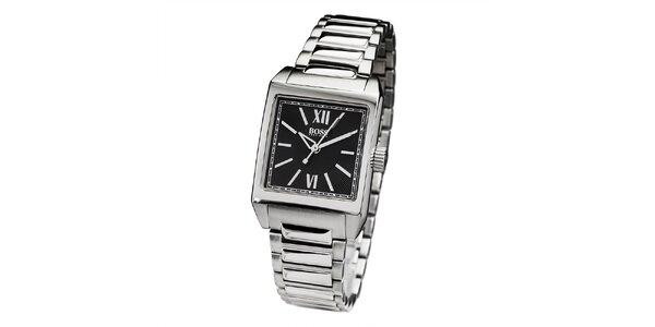 Pánske strieborné hodinky s rímskymi číslicami Hugo Boss