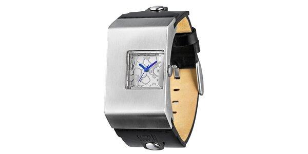 Dámske náramkové hodinky s modrými ručičkami The One