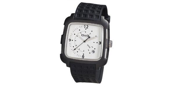 Pánske hranaté hodinky s bielym ciferníkom Dolce & Gabbana
