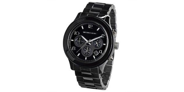 Pánske čierne hodinky s chronografom Michael Kors