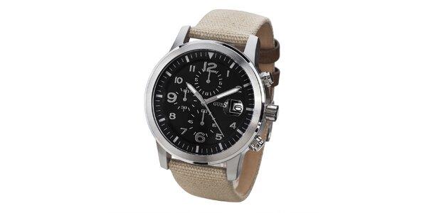 Pánske hodinky s ocelovým púzdrom a chronografom Guess