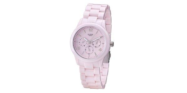 Dámske svetlo ružové hodinky Guess