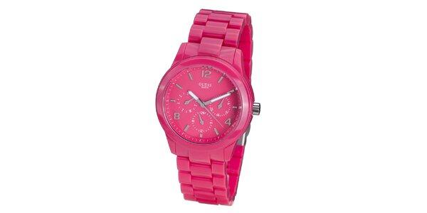 Dámske sýto ružové hodinky Guess