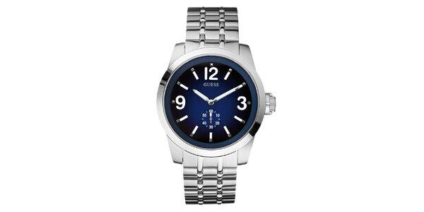 Pánske strieborné hodinky z nerezovej ocele Guess