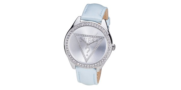 Dámske hodinky vyložené kamienkami Guess