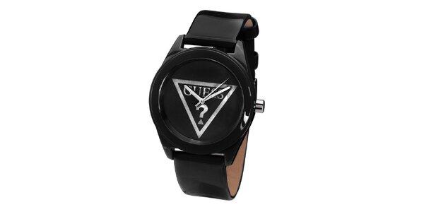 Dámske čierne minimalistické hodinky Guess