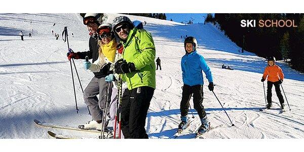 Lekcie lyžovania pre deti aj dospelých