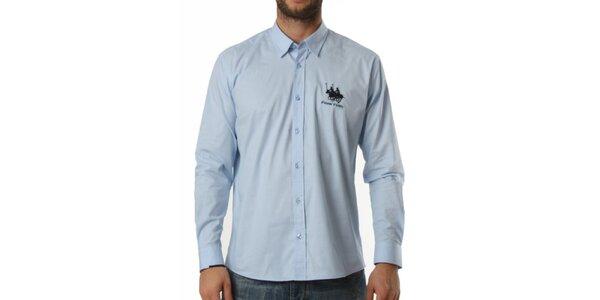 Pánska modrá košeľa s dlhým rukávom Frank Ferry