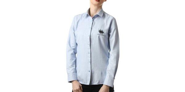 Dámska modrá košeľa s výšivkou Frank Ferry