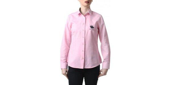 Dámska ružová košeľa s výšivkou Frank Ferry