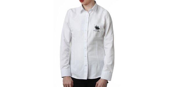 Dámska biela košeľa s výšivkou Frank Ferry