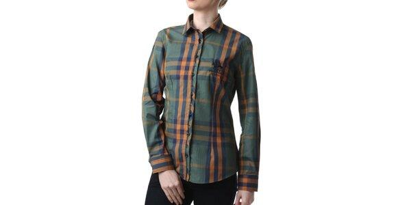 Dámska zelená kockovaná košeľa Frank Ferry