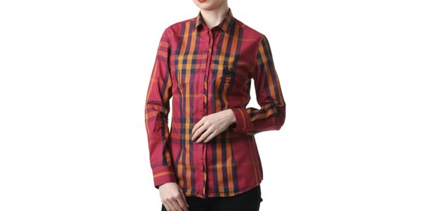 Dámska červená kockovaná košeľa Frank Ferry