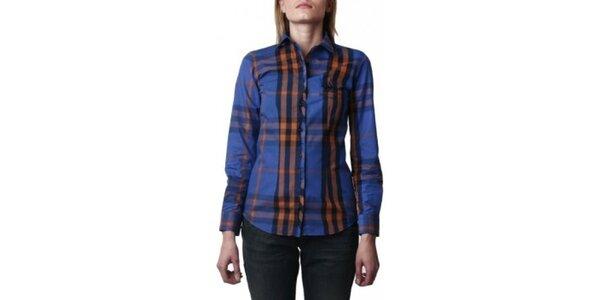 Dámska modrá kockovaná košeľa Frank Ferry