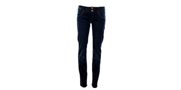 Dámske tmavo modré slim džínsy Exe Jeans