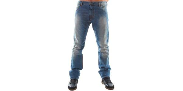 Pánske modré šisované ležérne džínsy Diesel