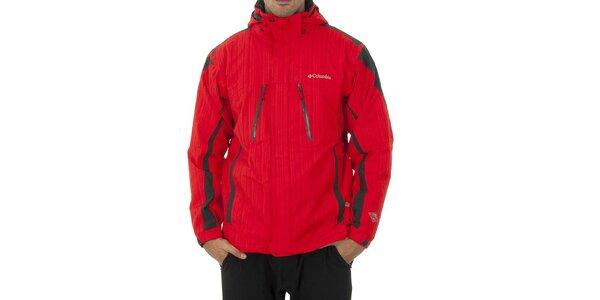 Pánska červená športová bunda Columbia s membránou